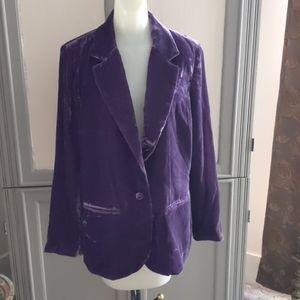 NWT Crushed purple velvet blazer 14/16